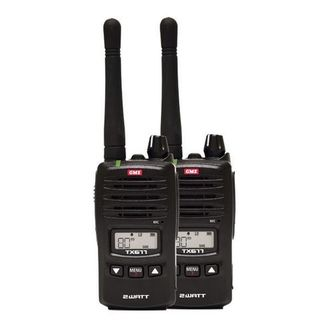 GME TX677TP UHF CB 2 Watt Radio - Twin Pack