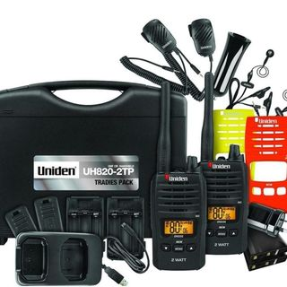 UNIDEN 820S-2TP UHF CB 2 WATT TWIN RADIOS TRADIE PACK OR HUNTING OR FARM