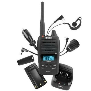 UNIDEN 850S 5 WATT UHF CB RADIO TITANIUM FULL PACK OF ACCESSORIES