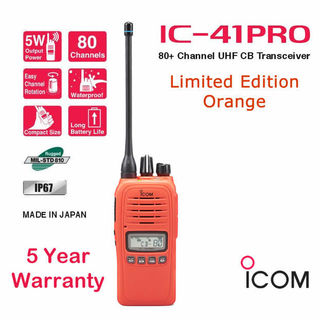 ICOM IC-41PRO 5 WATT UHF CB HAND HELD RADIO . THE ABSOLUTE PREMIUM HANDHELD *WATERPROOF*
